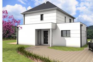 Constructeur Maisons Bernard Jambert - Modèle Etage contemporain 1