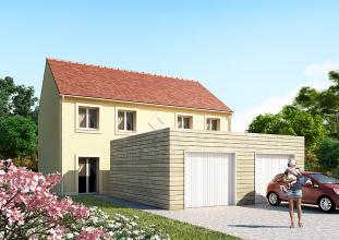 Modèle et plan de maison : HORIZON 79 x 2 - 79.00 m²