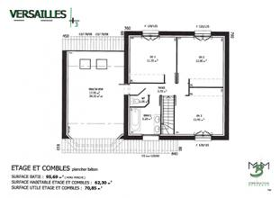 Modèle et plan de maison : Versailles - 137.00 m²