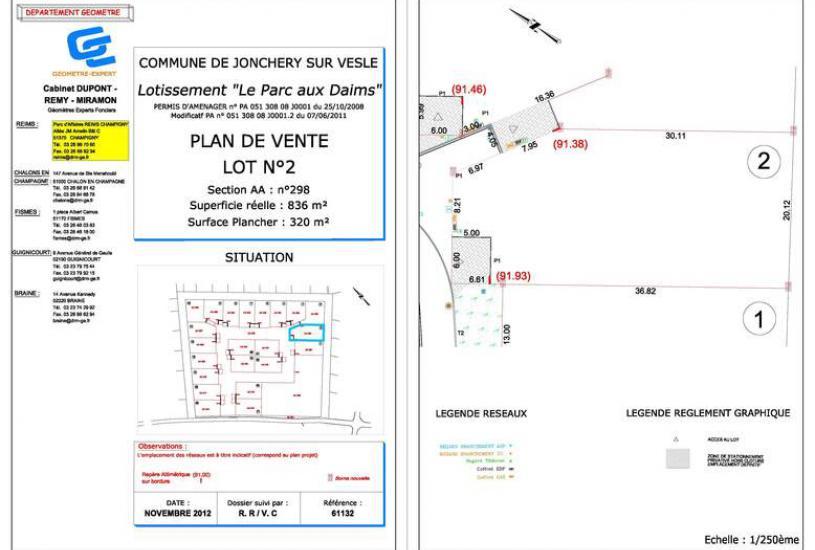 Vente Terrain à bâtir - 836m² à Jonchery-sur-Vesle (51140)