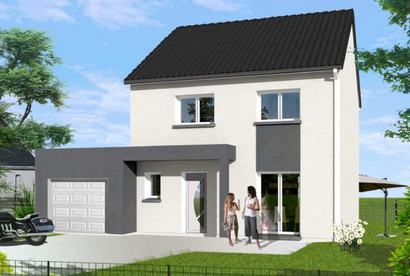 Vente Terrain + Maison - Terrain : 961m² - Maison : à Saint-Julien-le-Faucon (14140)