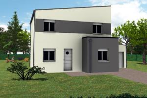 Constructeur Maisons TÉva - Modèle Kalys 4chs toit plat