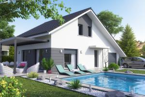 Constructeur Maisons Et Chalets Des Alpes - Modèle Orchidée (modèle présenté 98m2)